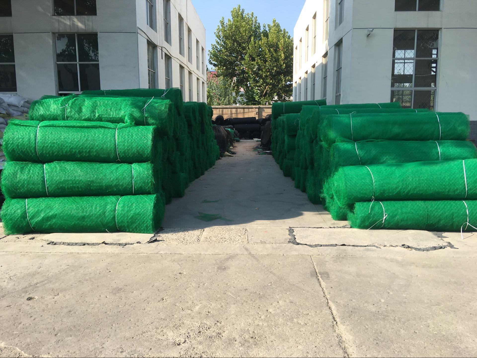 三维土工网垫厂家分析三维土工网垫做成丝瓜络结构的优点