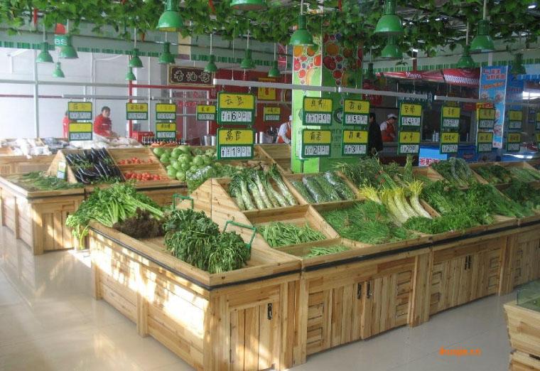 钢木超市货架